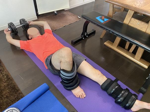 足と腕と腹筋を鍛える筋トレ