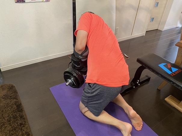 背中を鍛える筋トレ空手用